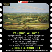 Vaughan Williams (1872-1958): Symphony No. 2 & 5; Fantasies / Halle Orchestra, Philharmonia Orchestra, Sinfonia of London, John Barbirolli