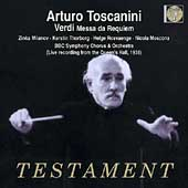 Verdi: Messa da Requiem / Toscanini, Milanov, et al