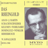 Wagner: Das Rheingold / Sawallisch, Adam, Martin, et al