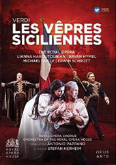 Verdi: Les Vepres Siciliennes, opera / Lianna Haroutounian, Bryan Hymel, Michael Volle, Erwin Schrott; Chorus & Orchestra of the Royal Opera House; Pappano [DVD]