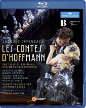 Jacques Offenbach: Les Contes d'Hoffmann (The Tales of Hoffmann) / Kerstin Avemo, Mandy Fredrich, Rachel Frenkel, Daniel Johansson, Vichael Volle. Vienna SO, Johannes Debus [Blu-ray]