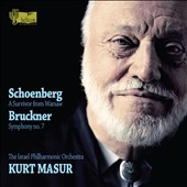 Schoenberg: A Survivor from Warsaw; Bruckner: Symphony No. 7 / Kurt Masur