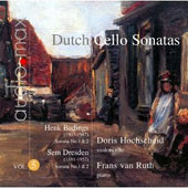 Dutch Cello Sonatas, Vol. 5 / Henk Badings: Sonata No. 1 & 2; Sem Dresden: Sonata No. 1 & 2 / Doris Hochscheid, violoncello; Frans van Ruth, piano