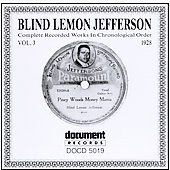 Blind Lemon Jefferson: Complete Recorded Works, Vol. 3 (1928)