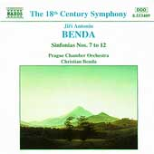 Benda: Sinfonias nos 7-12 / Christian Benda, Prague CO