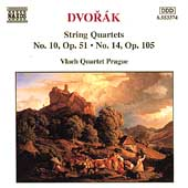 Dvor&aacute;k: String Quartets no 10 & 14 / Vlach Quartet Prague
