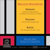 'Miraculous Metamorphoses' - Hindemith: Symphonic Metamorphosis; Prokofiev: Love for Three Oranges; Bartók: Miraculous Mandarin suite