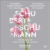 Schubert: Quintet for Strings in C major; Schumann: Piano Quintet in E major / Lasalle Quartet, James Levin, piano; Lynn Harrell, cello