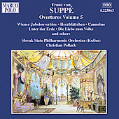 Suppé: Overtures Vol 5 / Christian Pollack, Slovak State PO