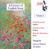 A Century of English Songs Vol 3 / Leonard, Veira, Martineau