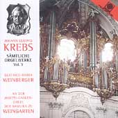 Krebs: Complete Organ Music Vol 3 / Beatrice Weinberger