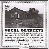 Various Artists: Vocal Quartets, Vol. 7: S/T/V/W