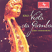 Solo Viola da Gamba / John Dornenburg