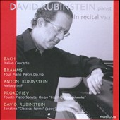 David Rubinstein in Recital, Vol. 1