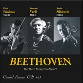 Beethoven: The Three String Trios, Op. 9 / Erick Friedman, violin. Emanuel Vardi, viola. Jascha Silberstein, cello