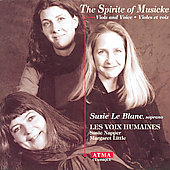 Spirite of Musicke / Suzie Le Blanc, Les Voix Humaines