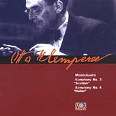 Mendelssohn: Symphony no 3 & 4 / Klemperer, Vienna SO