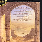 Hook, J.C. Bach, Mahon: Clarinet Concertos / Lawson, Harris
