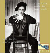 Stravinsky: Music for 4 Hands;  DEbussy, Bolcom, etc / Paul Jacobs, Aaron Copland, Oppens