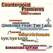 Counterpoint Premieres - Bernstein, Moyse, Levi, Castelnuovo-Tedesco / DeCormier, Counterpoint