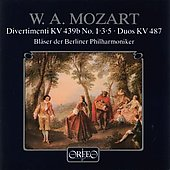 Mozart: Wind Divertimenti / Berlin Philharmonic Winds