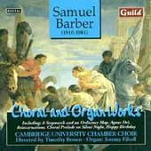 Barber: Choral and Organ Works / Brown, Filsell, etc