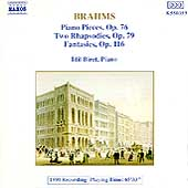 Brahms: Piano Pieces, Rhapsodies, Fantasies / Idil Biret