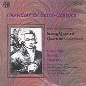 Saint-Georges: String Quartets / Coleridge String Quartet