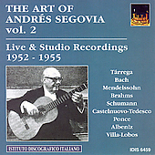 The Art of Andrés Segovia Vol 2  - 1952-55
