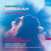 Handel: The Messiah (Highlights) / Harnoncourt, Schäfer, Larsson, et al