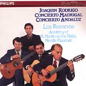 Rodrigo: Concierto Madrigal, Concierto Andaluz / Los Romeros