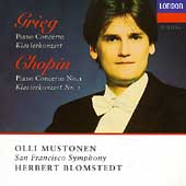 Grieg, Chopin: Piano Concertos / Mustonen, Blomstedt