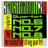 Shostakovich: String Quartets Vol 3 / Manhattan Quartet