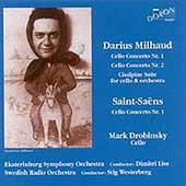 Milhaud, Saint-Saens: Cello Concertos / Drobinsky, Liss, etc