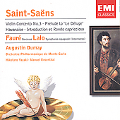 Saint-Sa&#235;ns: Violin Concerto, etc / Dumay, Rosenthal, et al