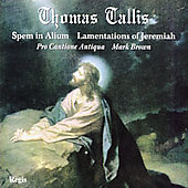 Tallis: Spem in alium, Lamentations, etc / Brown