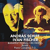 Bart&oacute;k: Piano Concertos no 1, 2 and 3 / Iv&aacute;n Fischer, Andr&aacute;s Schiff,  Budapest Festival Orchestra