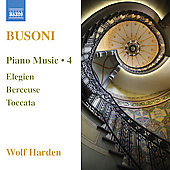 Busoni: Piano Music Vol 4 / Wolf Harden
