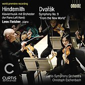 Hindemith: Klaviermusic;  Dvor&aacute;k: Symphony no 9 / Christoph Eschenbach, Leon Fleisher, et al