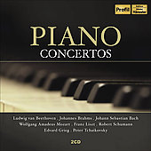 Piano Concertos - Beethoven, Brahms, Schumann, Liszt, Bach, etc / Anda, Argerich, Casadesus, et al
