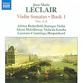 Leclair: Violin Sonatas Book 1 / Butterfield, McGillivray, Cummings