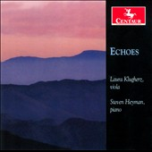 Echoes - Works by Roque Cordero, G. Frank, Dexter Morrill, Akin Euba et al. / Laura Kugherz, viola. Steven Heyman, piano.