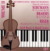 European Busch-Serkin Duo Recordings Vol 2 - Schumann, et al
