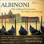 Albinoni: Double Oboe Concerto; String Concertos / Anthony Robson, oboe; Catherine Latham, oboe. Standage