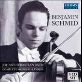 J.S. Bach: Complete Works for Violin - Sonatas & Partitas, Concertos and Sonatas / Benjamin Schmid, violin; Anthony Spiri, harpsichord; Sebastian Hess, cello [5 CDs]