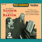 Gyorgy Sandor plays Bartok: Piano Concerti, Rhapsody