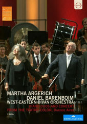 Piano Duos and Concert from the Teatro Colón, Buenos Aires - Music of Beethoven, Schumann, Ravel, Bizet, Mozart, Schubert, Stravinsky et al. / Martha Argerich & Daniel Barenboim, pianos [2 DVD]