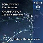 Tchaikovsky: The Seasons Op. 37b;  Rachmaninov: Corelli Variations Op. 42 / Hideyo Harada