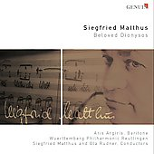Siegried Matthus: Beloved Dyonisos / Aris Argiris, baritone