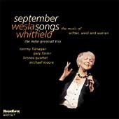 Wesla Whitfield: September Songs: The Music of Wilder, Weill and Warren